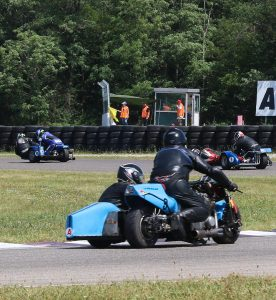 Course moto sidecar